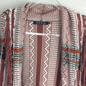 Zozo Rust Cardigan Sweater Duster Fall Colors 1X